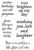 Woodware - Brightening Your Day - Clear Magic Stamp Set - JGS506